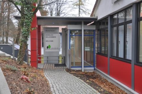 Eingang zur Seminarzentrum Rückersbach