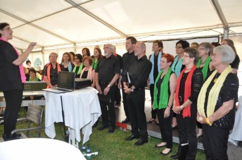Chorauftritt am Galaabend