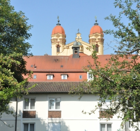 Das Tagungshaus Schönenberg mit der bekannten Basilika war Ort des Austauschtreffens.