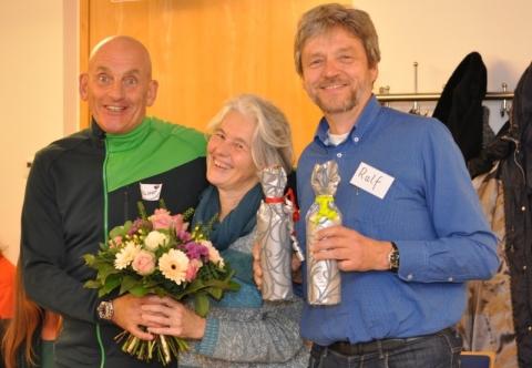 Helmut Bauer bedankt sich beim Orga-Team um Maria Christl und Ralf Jakob.