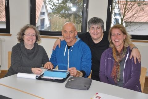 Der neue Vorstand am Tag danach: Cordula Goulet, Helmut Bauer, Fotini Papadopulu und Christiane Auracher. Es fehlt Gerlinde Melcher.