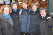 """Der neue """"frischgebackene"""" Vorstand präsentierte sich am Sonntagmorgen den Fotografen: Cordula Goulet, Birgit Halberstadt, Olaf Lüderitz, Anja Streiter und Fotini Papadopulu"""