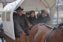 ... bevor die Vorstände  mit der Pferdekutsche zur Stadtrundfahrt durch Ellwangen aufbrachen.