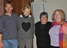 Der neue Vorstand der DQGG: Olaf Lüderitz, Gerlinde Melcher, Fotini Papadopulu und Cordula Goulet
