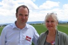 Die Vortragenden Prof. Dr. Niko Kohls und Vera Kaltwasser