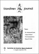Nachrichten der Deutschen Qigong Gesellschaft 2/1998
