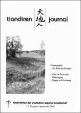 Nachrichten der Deutschen Qigong Gesellschaft 1/2003