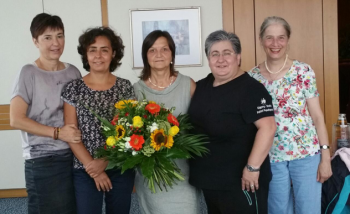 Von links: Ute Gleissner, Zeynep Sayman, Marianne Hohner, Fotini Papadopulu, Dr. Cornelia Richter